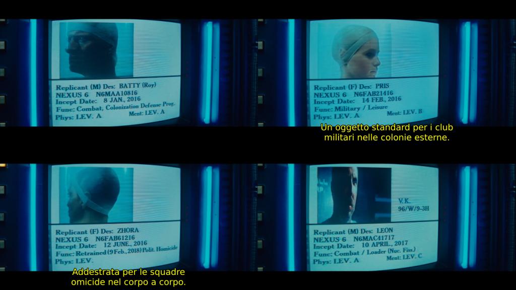 """Replikanti koje Deckard mora """"povući"""" mahom su proizvedeni ove godine, osim Leona, koji je proizveden sljedeće."""