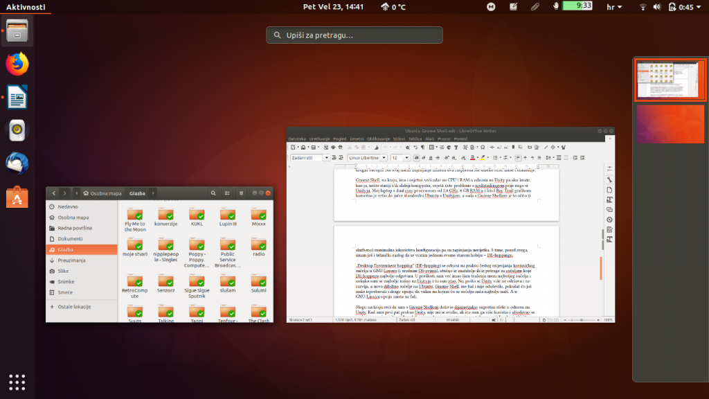 Gnome Shell Overview Mode