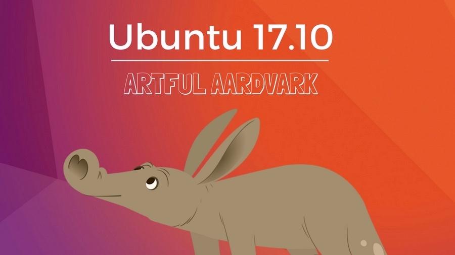 Ubuntu 17.10 Artful Aardvark maskota